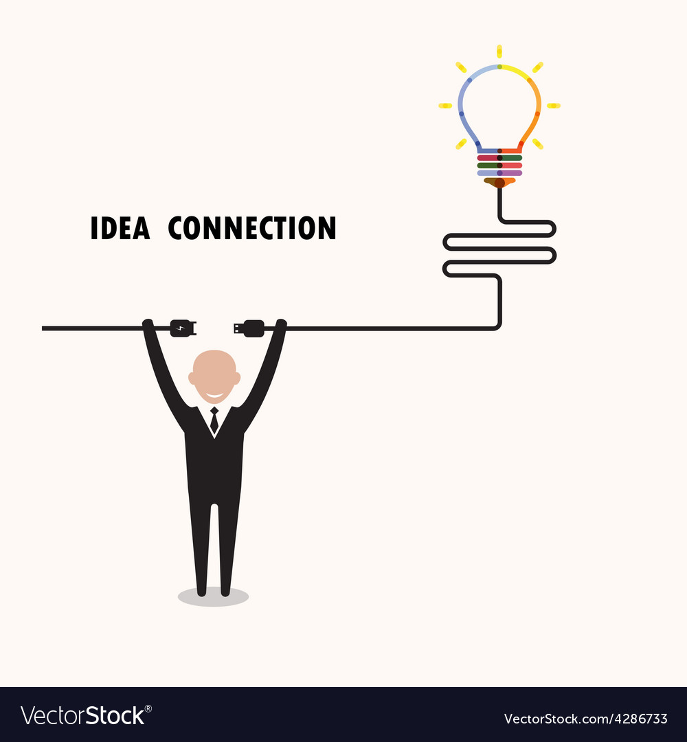 Businessman and creative light bulb vector | Price: 1 Credit (USD $1)