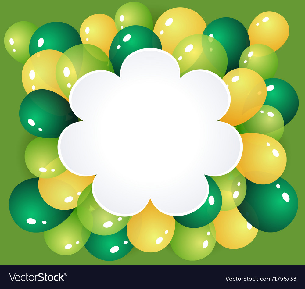 Flower frame with balloons vector | Price: 1 Credit (USD $1)