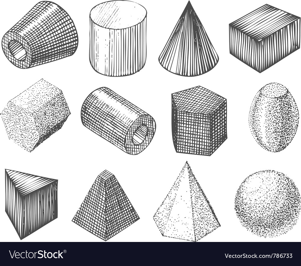 Geometric shapes by hand vector | Price: 1 Credit (USD $1)