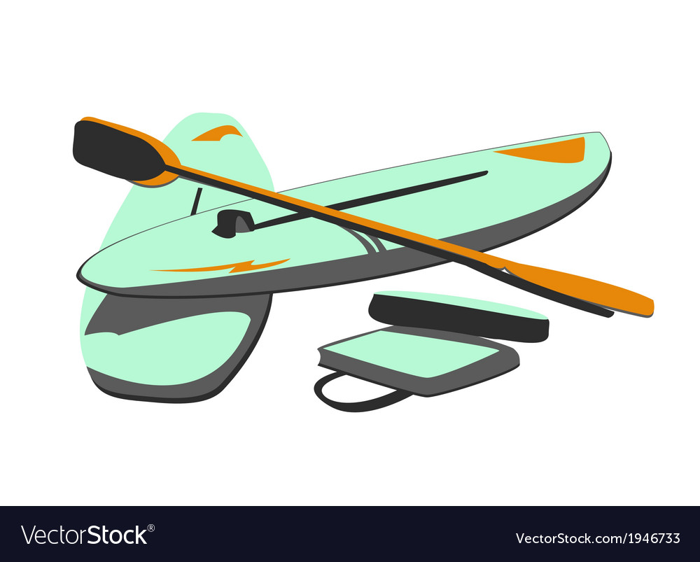Isolated water sport baords  paddles vector | Price: 1 Credit (USD $1)