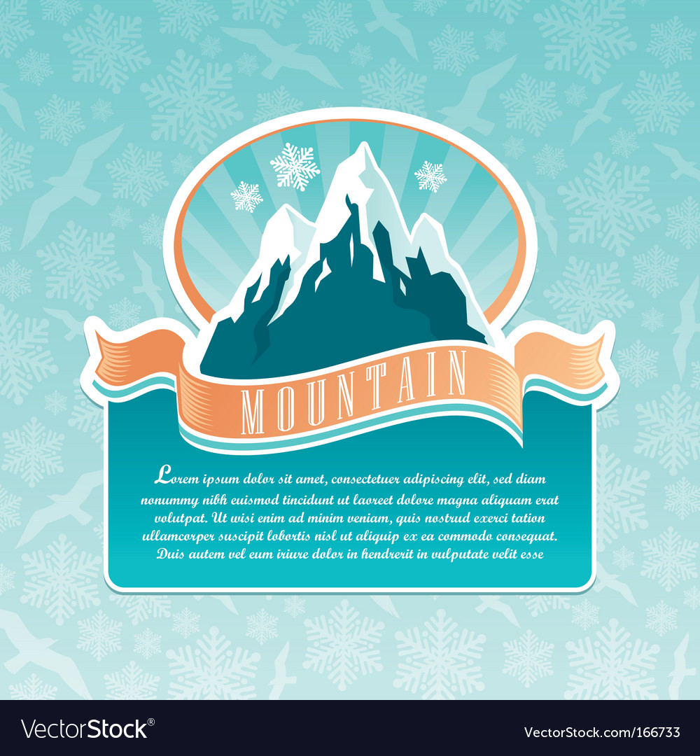 Mountain landmark emblem vector | Price: 1 Credit (USD $1)