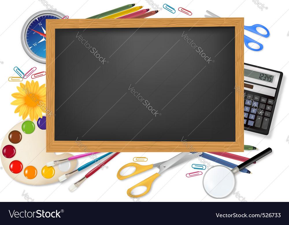School supplies vector | Price: 3 Credit (USD $3)