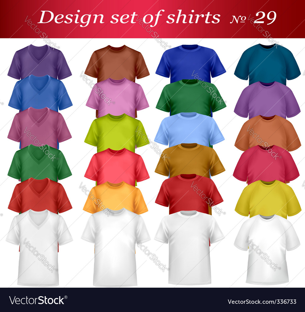 Shirt set vector | Price: 1 Credit (USD $1)