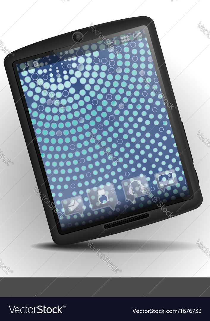 Tablet pc with mosaic wallpaper vector | Price: 1 Credit (USD $1)