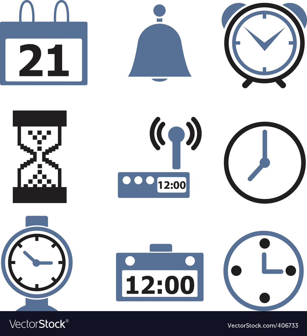 Time signs vector | Price: 1 Credit (USD $1)