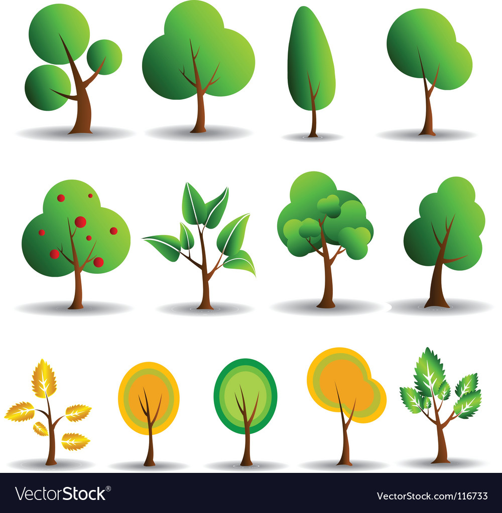 Tree symbols vector | Price: 1 Credit (USD $1)