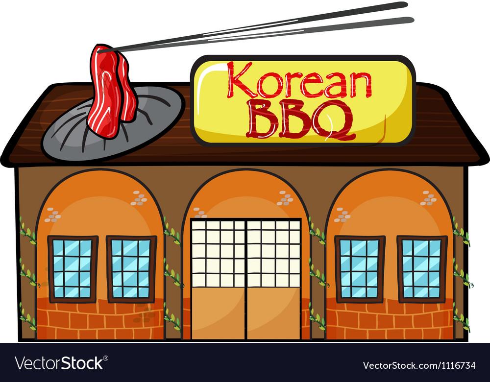 A korean bbq shop vector | Price: 1 Credit (USD $1)