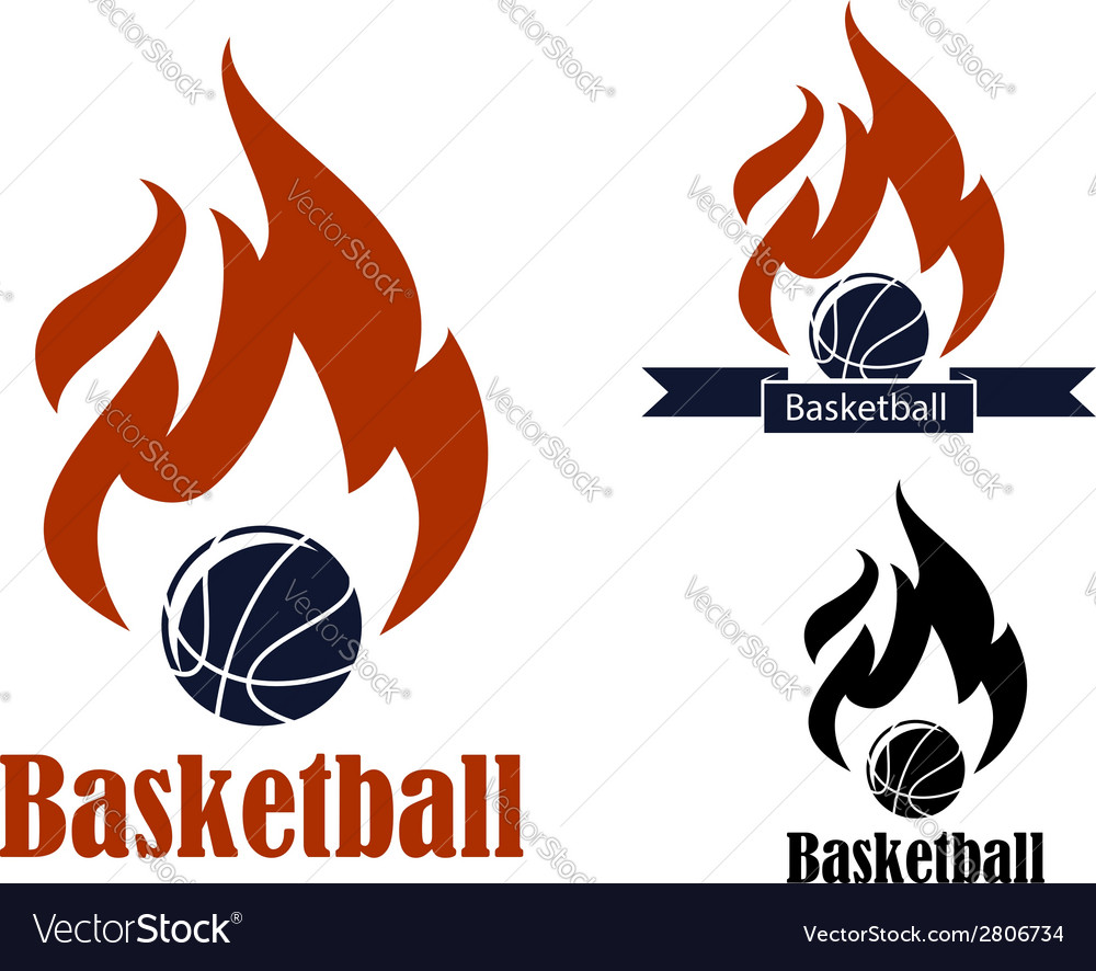 Basketball sport emblems vector | Price: 1 Credit (USD $1)