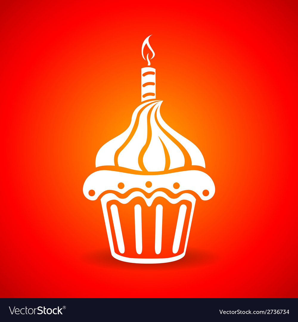 Birthday cake web icon vector | Price: 1 Credit (USD $1)