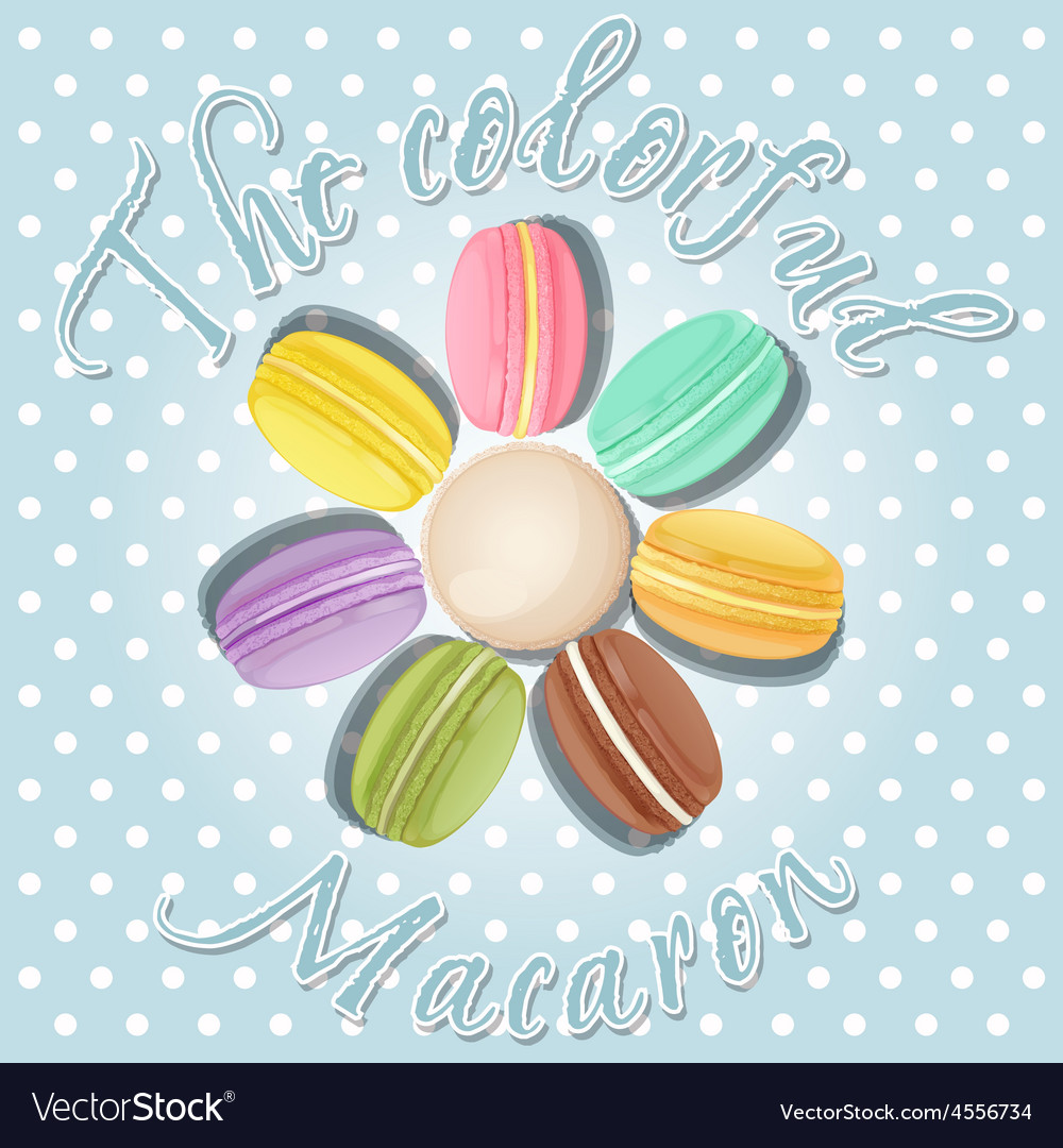 Collection of macaron in flower shape vector | Price: 1 Credit (USD $1)