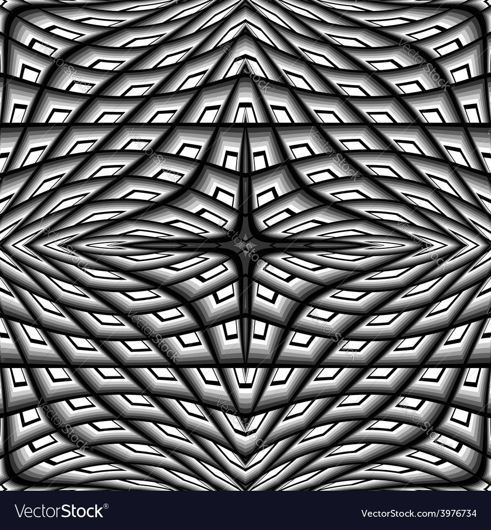 Design monochrome warped grid pattern vector | Price: 1 Credit (USD $1)
