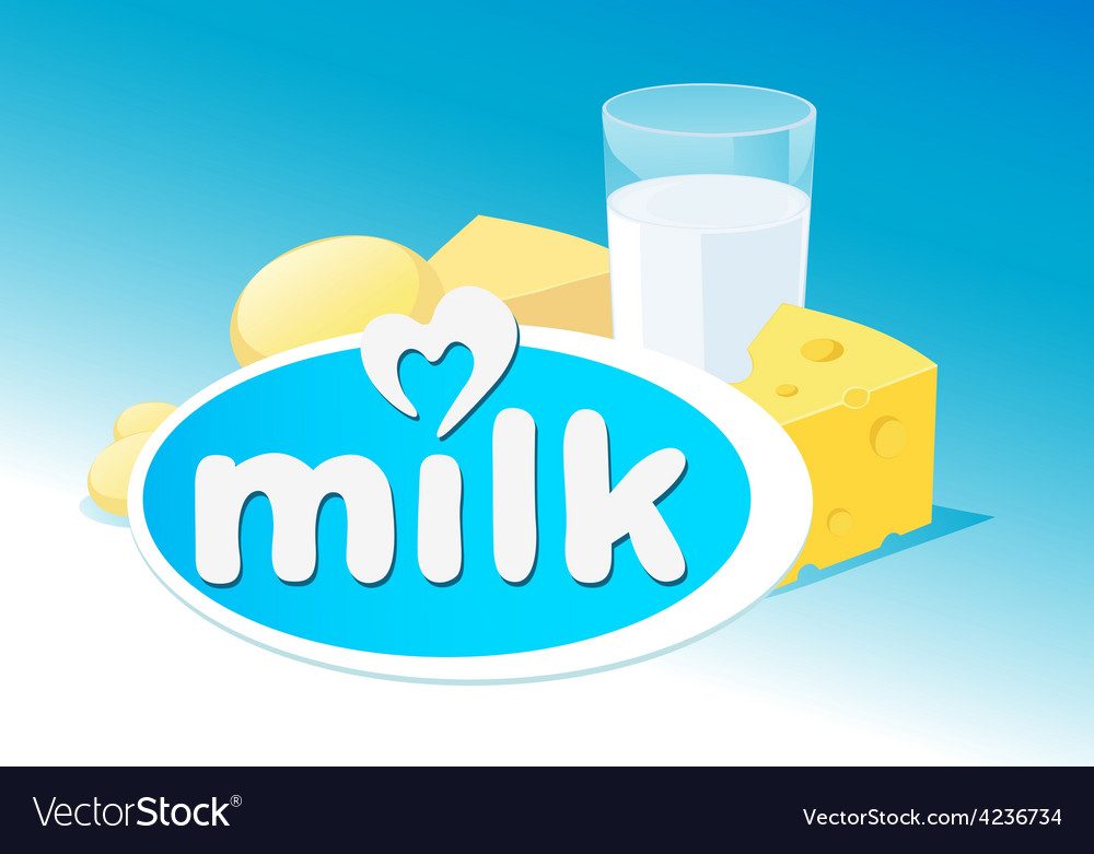 Design with milk dairy product vector | Price: 1 Credit (USD $1)
