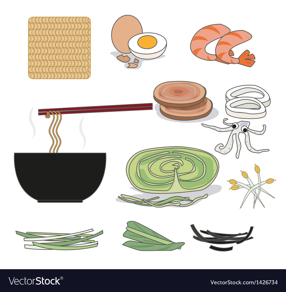 Instant noodles vector | Price: 1 Credit (USD $1)