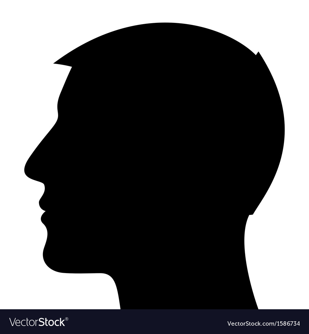 Man head silhouette vector | Price: 1 Credit (USD $1)
