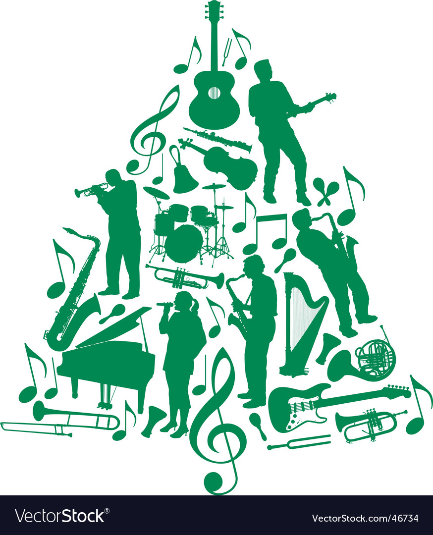 Music christmas tree vector | Price: 1 Credit (USD $1)