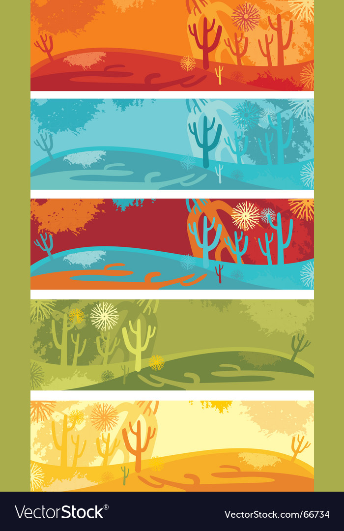 Nature banner set vector | Price: 1 Credit (USD $1)