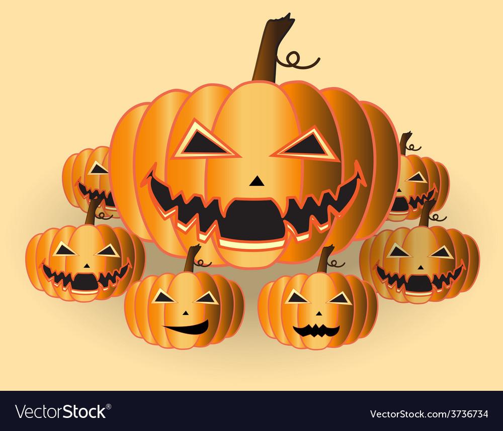 Pumpkins halloween vector | Price: 1 Credit (USD $1)