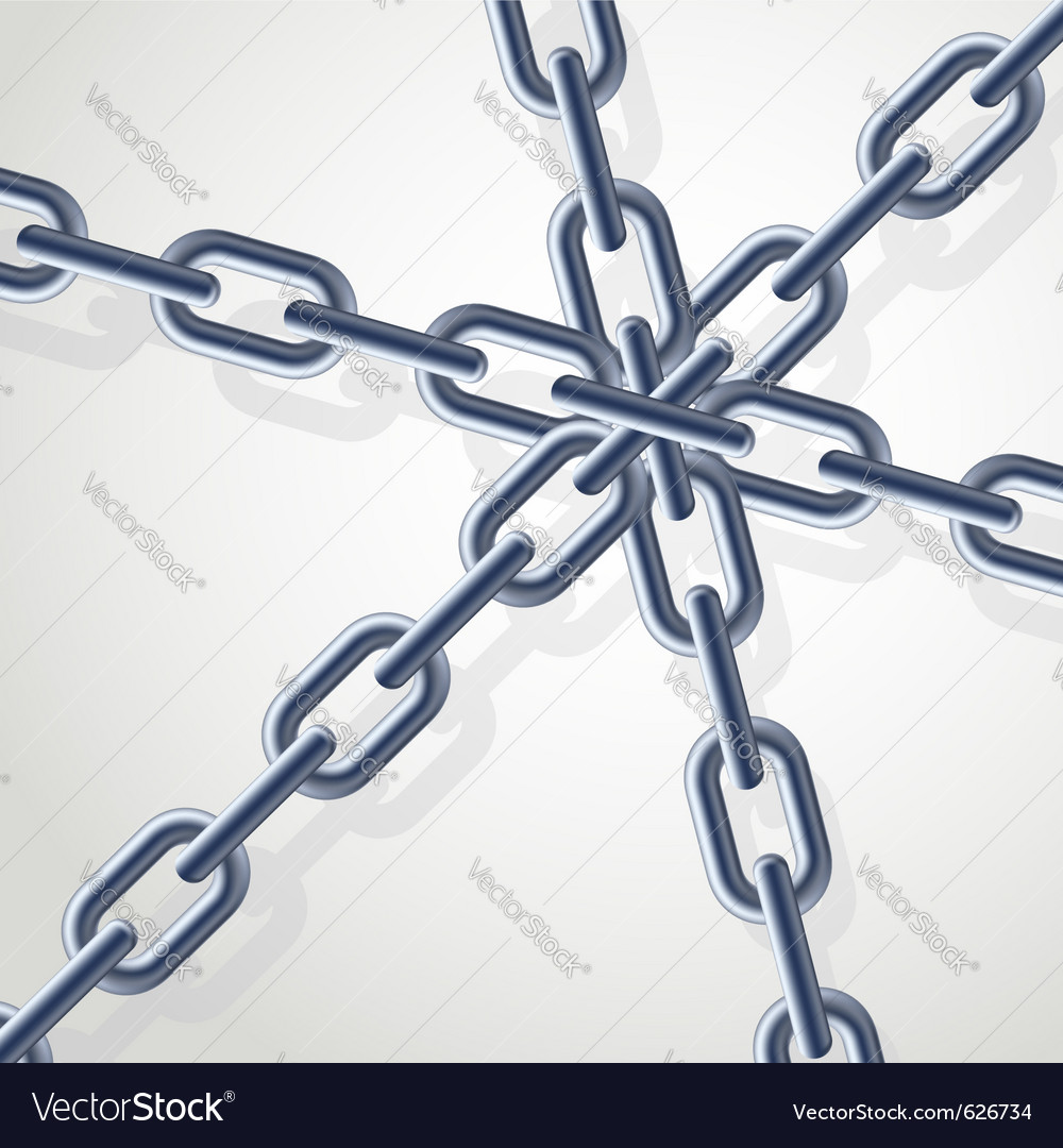Realistic gray chain on the white background for vector | Price: 1 Credit (USD $1)