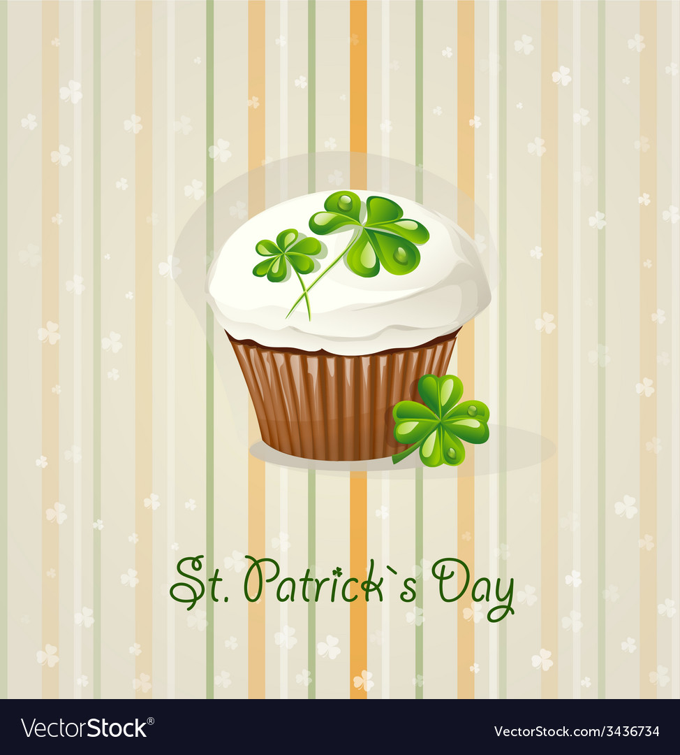 St patricks day background with cake vector | Price: 1 Credit (USD $1)