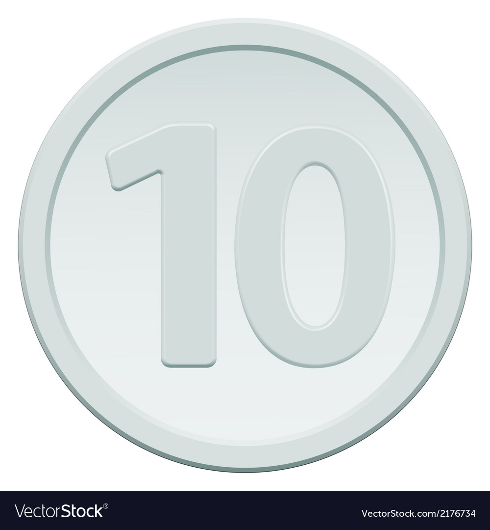 Ten coin vector | Price: 1 Credit (USD $1)