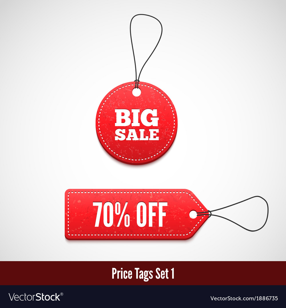 3d price tags set one vector | Price: 1 Credit (USD $1)