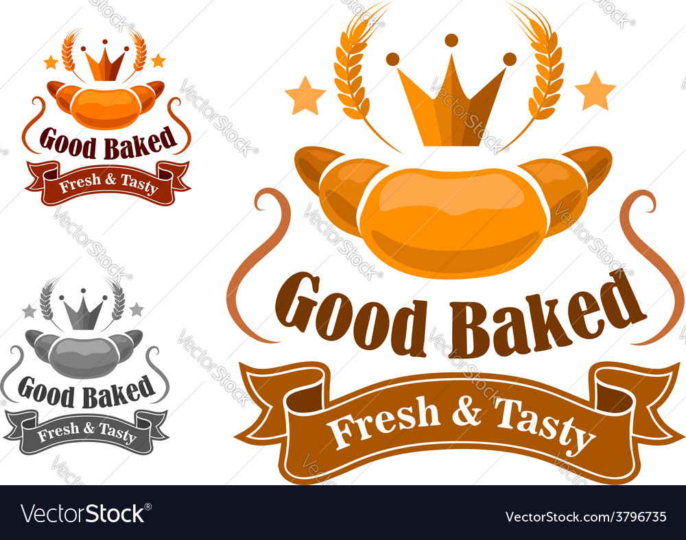 Bakery label withfresh and tasty croissant vector | Price: 1 Credit (USD $1)
