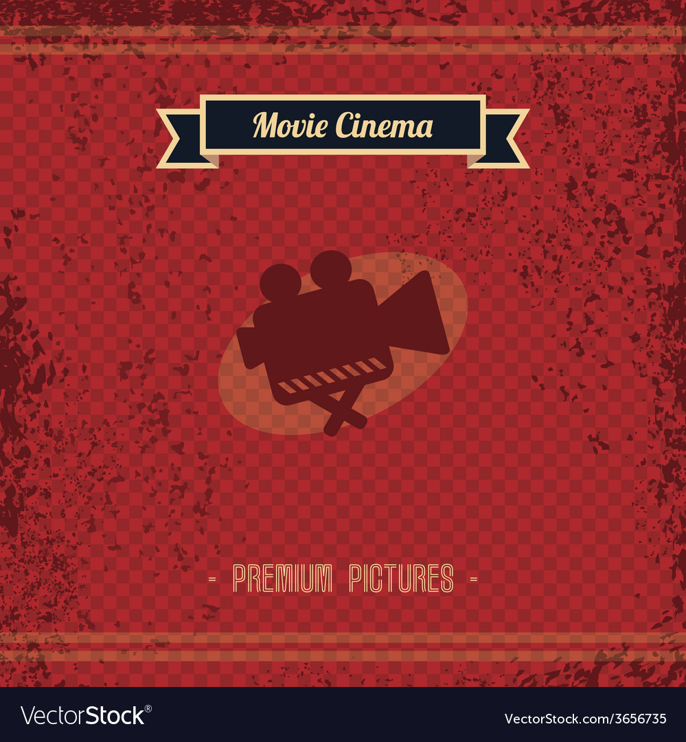 Cinema retro page vector | Price: 1 Credit (USD $1)