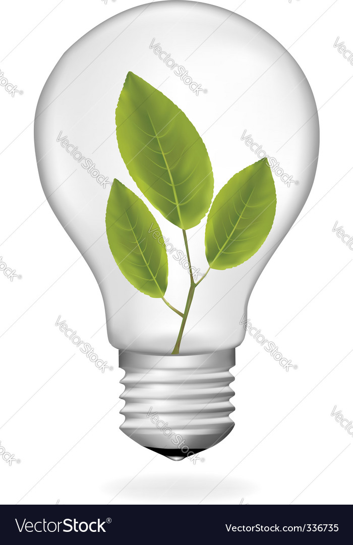 Ecology bulb vector | Price: 1 Credit (USD $1)