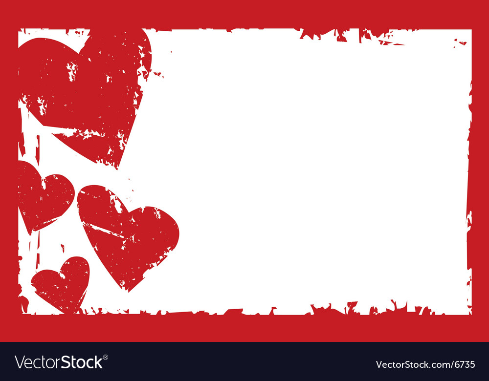 Grunge heart frame vector | Price: 1 Credit (USD $1)