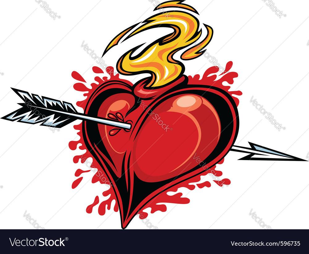 Heart tattoo design vector | Price: 3 Credit (USD $3)