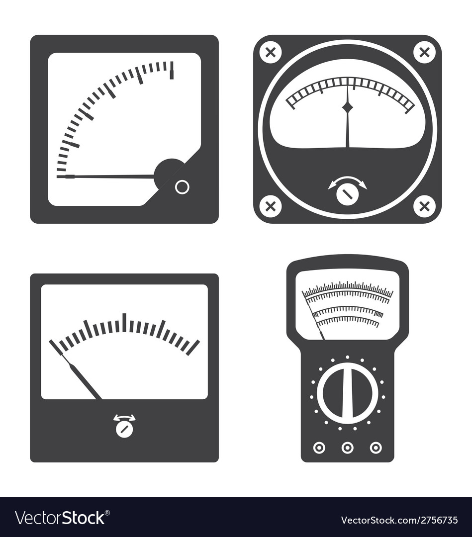 Icons of electrical measuring instruments vector | Price: 1 Credit (USD $1)