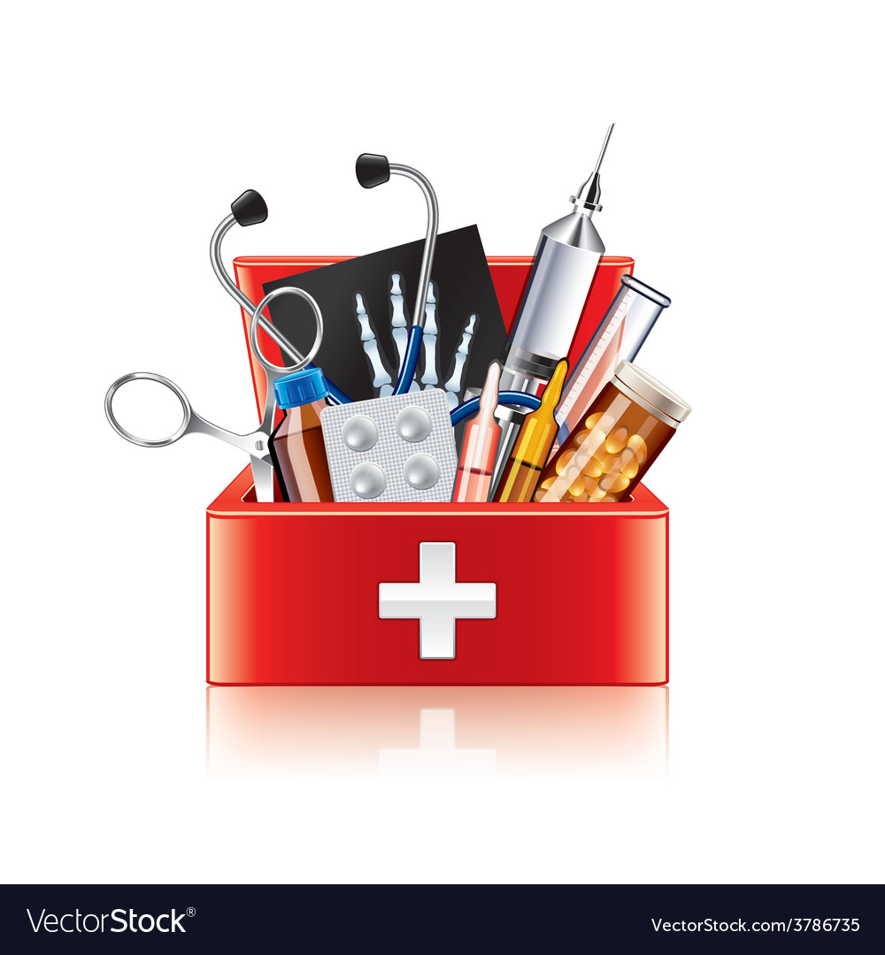 Medical equipment box isolated vector | Price: 3 Credit (USD $3)