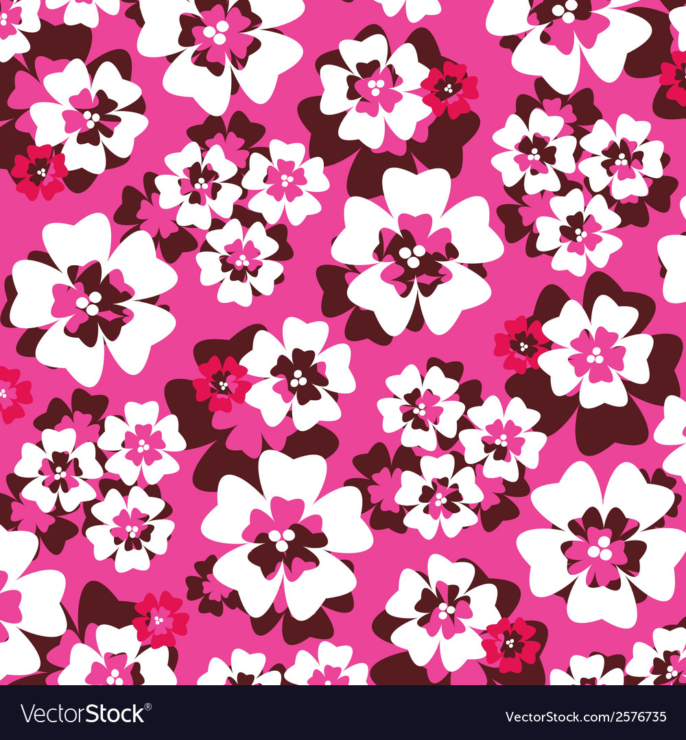 Pink tropical pattern vector | Price: 1 Credit (USD $1)