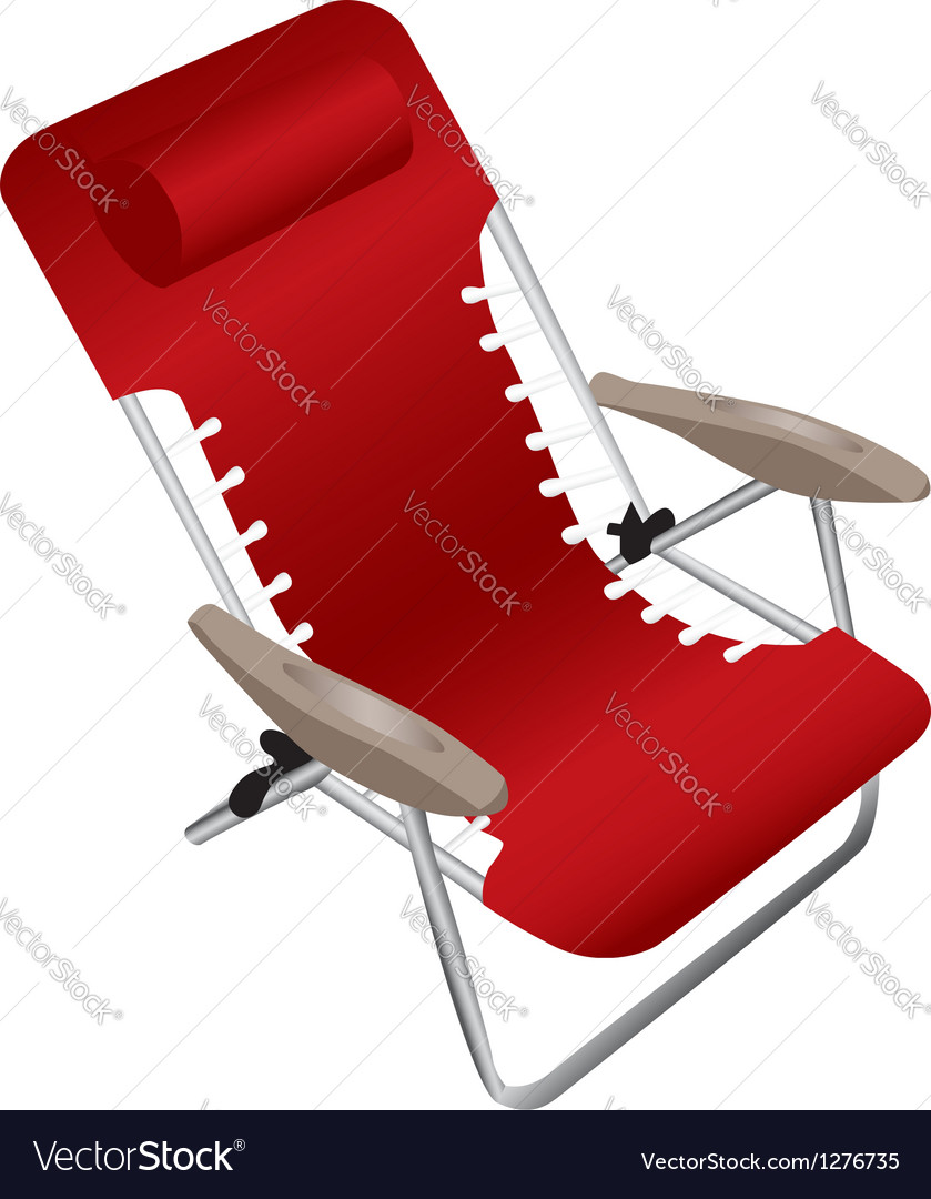 Red folding armchair vector | Price: 1 Credit (USD $1)