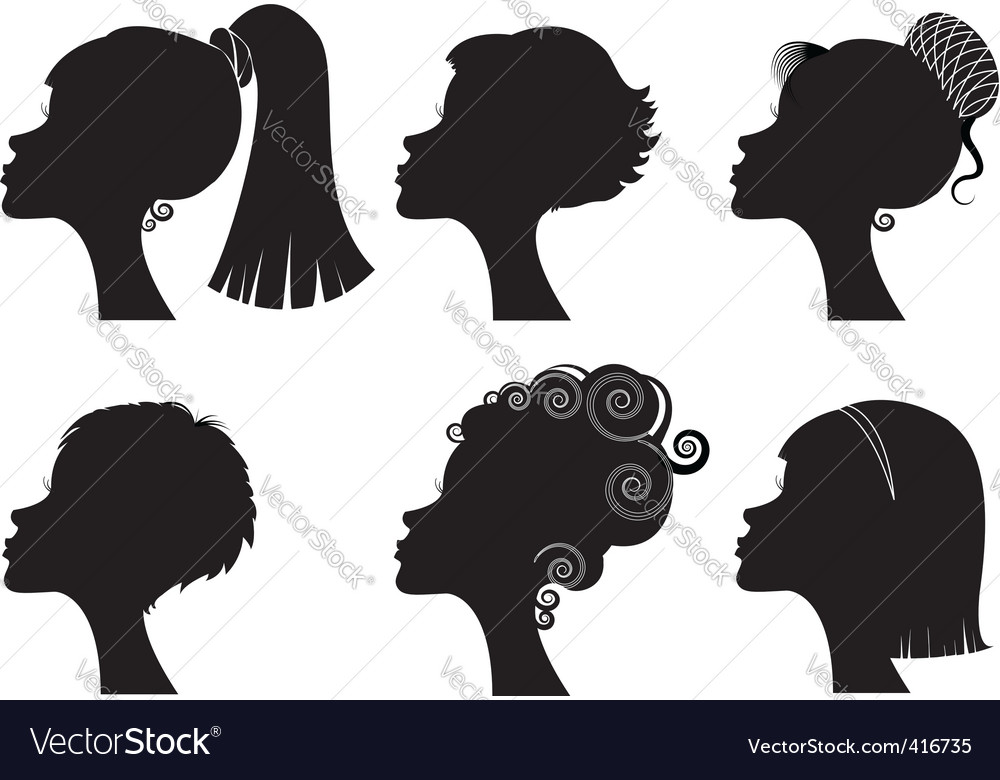 Silhouette woman hairstyle vector | Price: 1 Credit (USD $1)