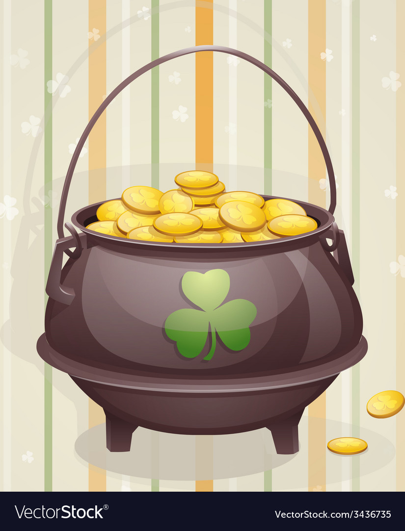St patricks day card to the casserole with the vector | Price: 1 Credit (USD $1)