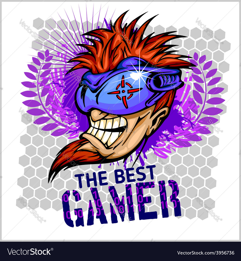 The best gamer - t-shirt design vector | Price: 1 Credit (USD $1)