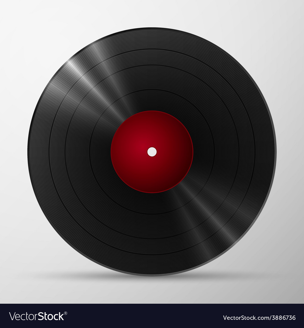 Black vinyl record vector | Price: 1 Credit (USD $1)