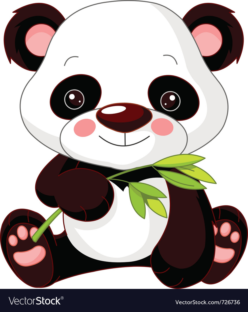 Cartoon panda vector | Price: 1 Credit (USD $1)