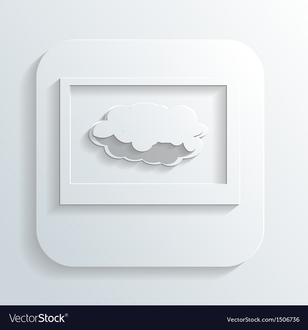 Cloud in the monitor icon vector | Price: 1 Credit (USD $1)