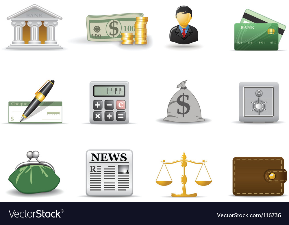 Financial icons vector | Price: 1 Credit (USD $1)