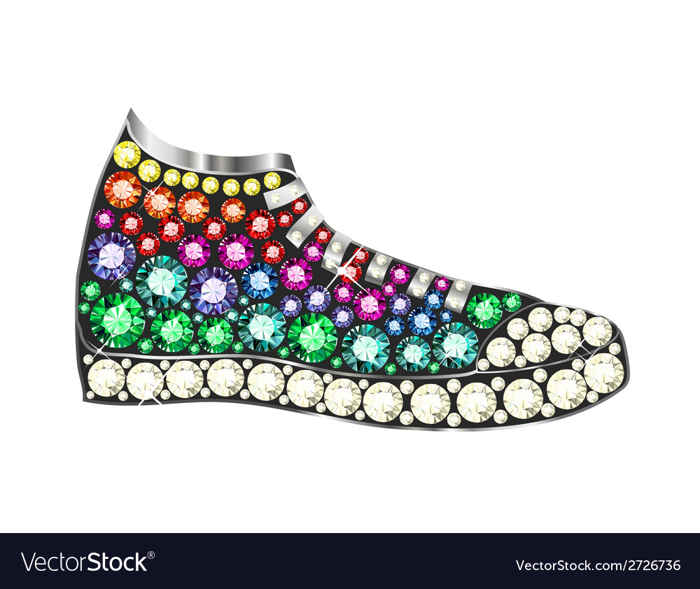 Gem sneakers vector | Price: 1 Credit (USD $1)