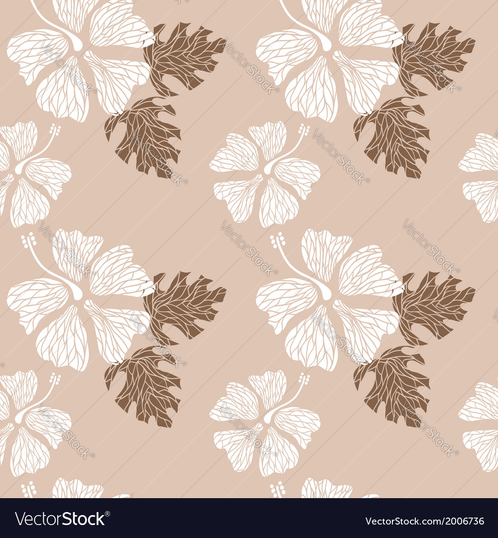 Hibiscus pattern nude vector | Price: 1 Credit (USD $1)
