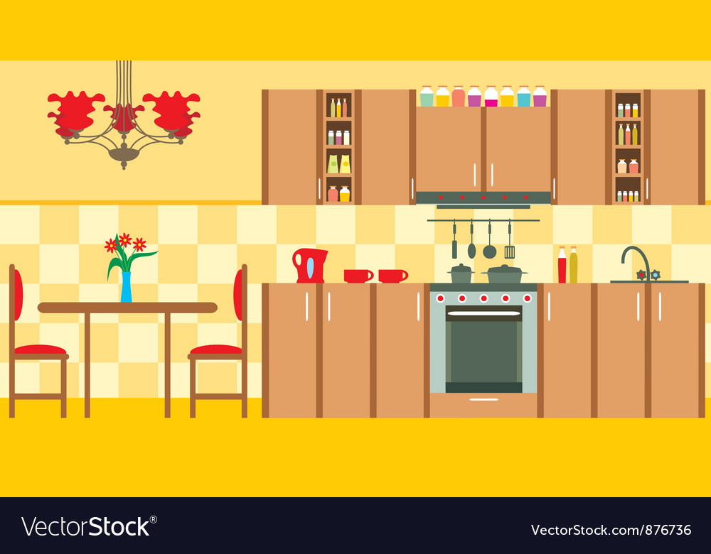 Kitchen furniture vector | Price: 3 Credit (USD $3)