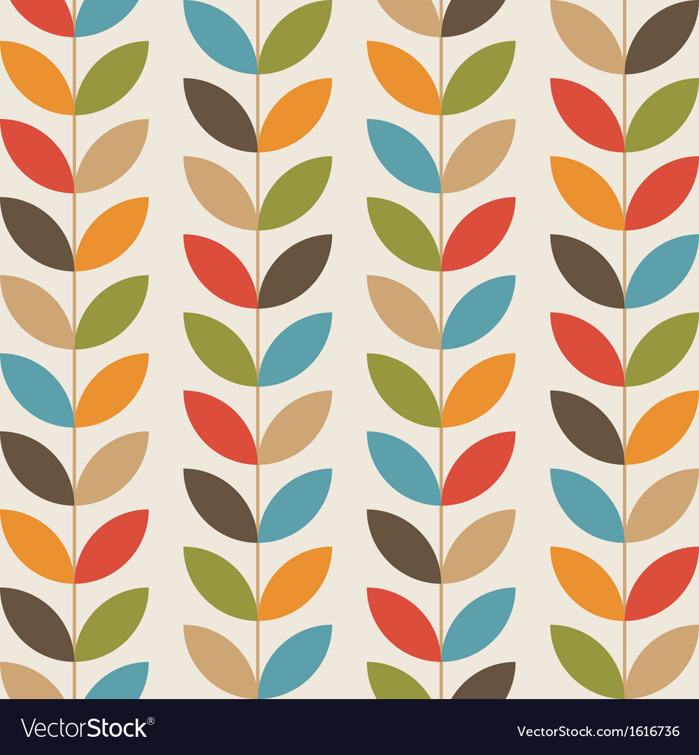 Retro flower pattern background vector | Price: 1 Credit (USD $1)