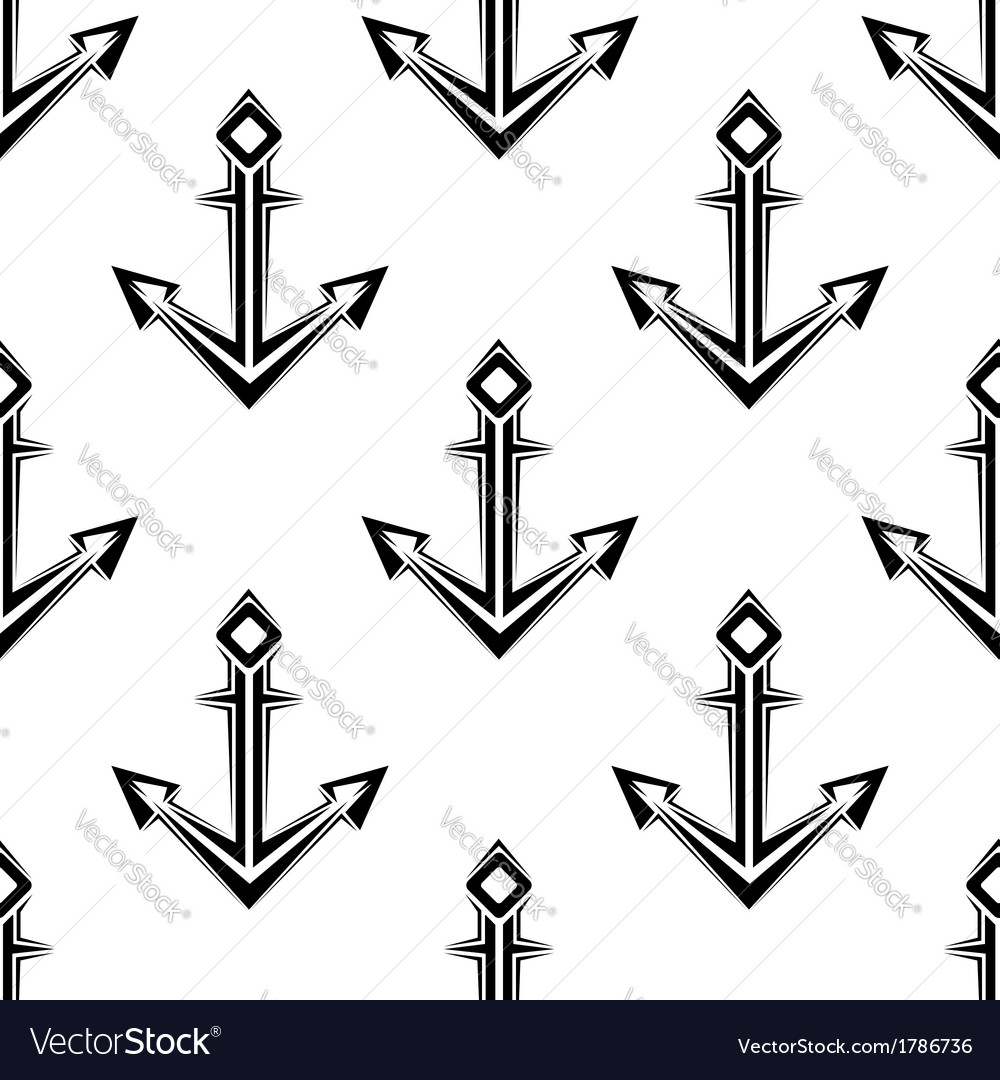 Sea anchor seamless pattern vector | Price: 1 Credit (USD $1)
