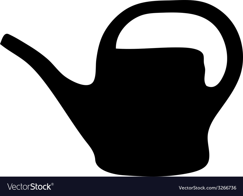 Watering can silhouette vector | Price: 1 Credit (USD $1)