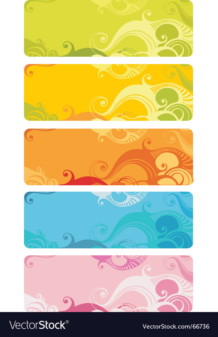 Wavy banner set vector | Price: 1 Credit (USD $1)