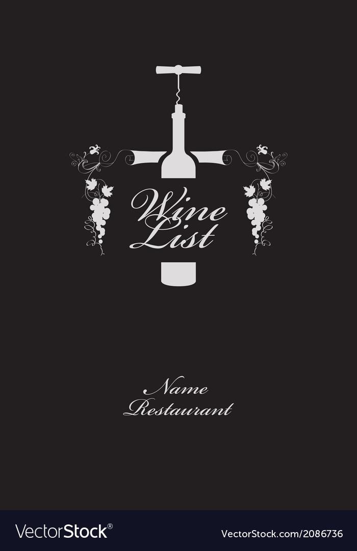 Wine list menu vector   Price: 1 Credit (USD $1)