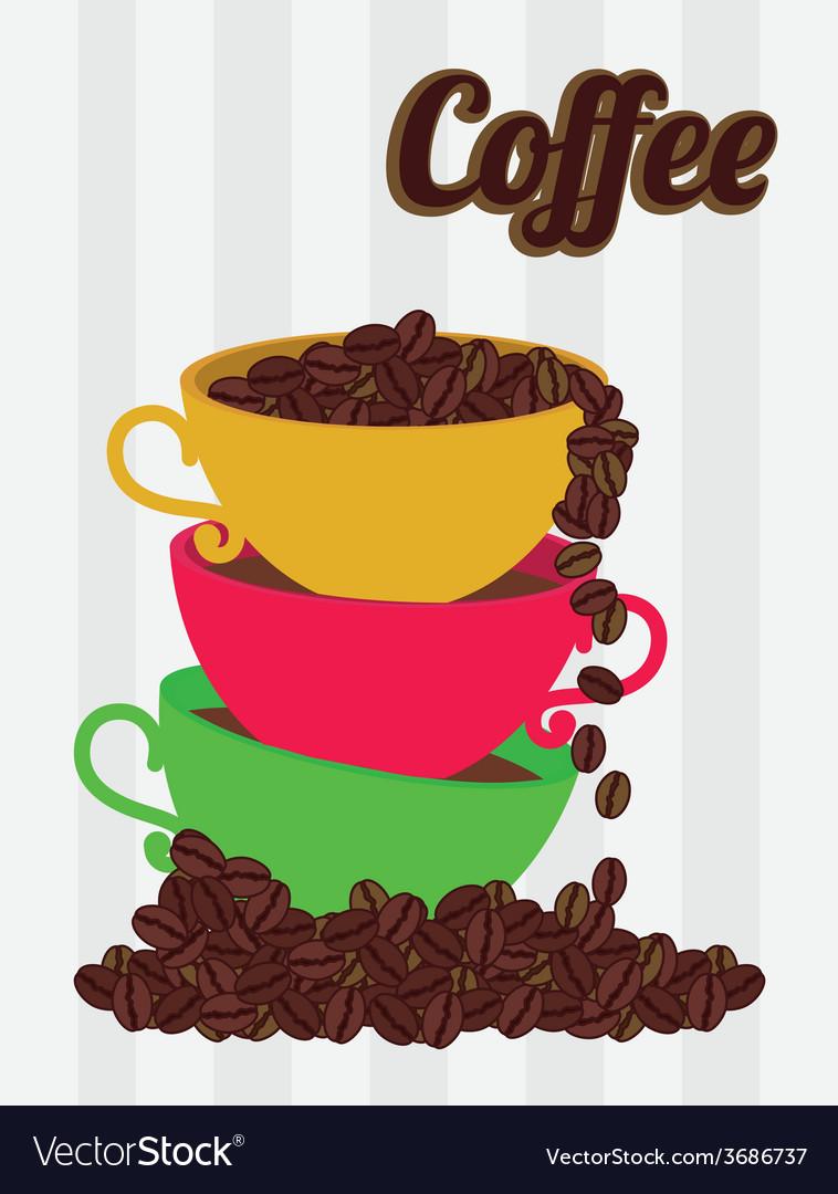 Coffee design over white background vector | Price: 1 Credit (USD $1)